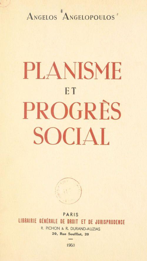 Planisme et progrès social