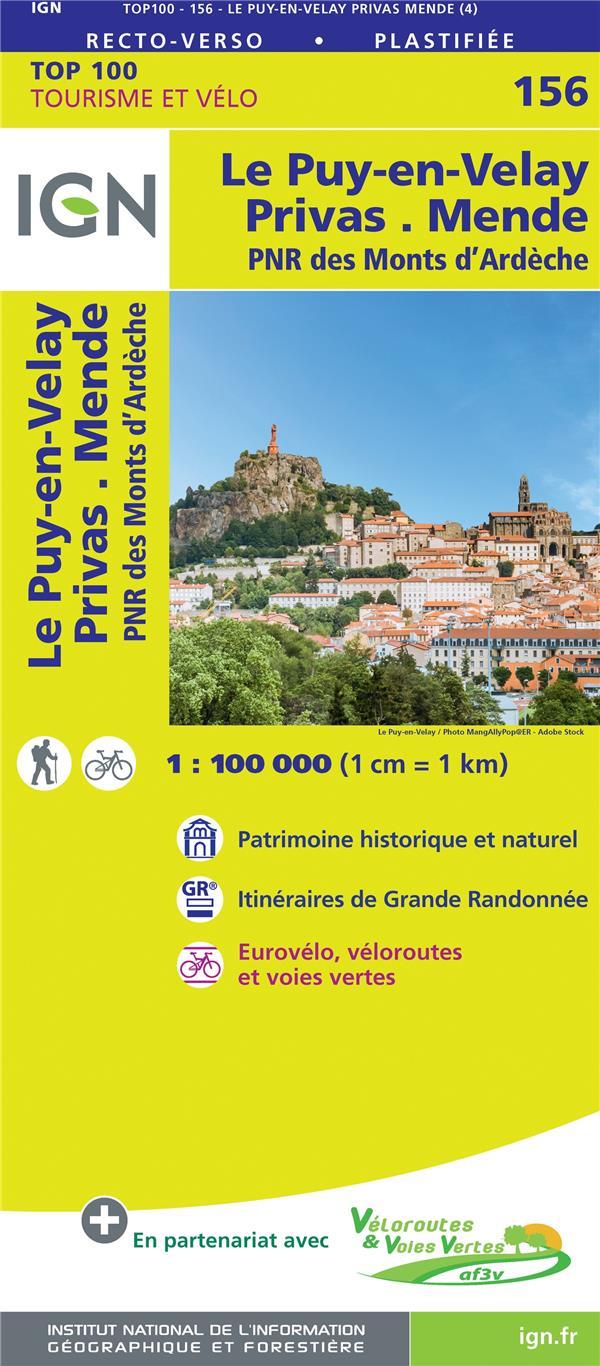 TOP100156 ; le Puy-en-Velay, Privas, Mende, PNR des Monts d'Ardèche (4e édition)
