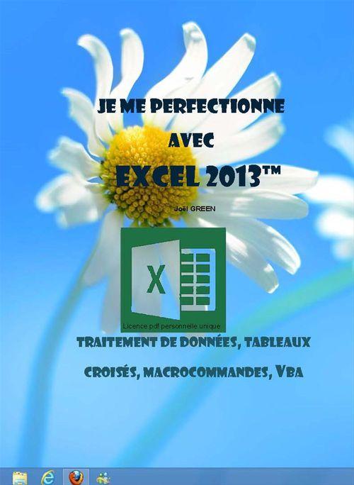 Je me perfectionne avec Excel 2013 - Traitement de données, tableaux croisés, macrocommandes, vba