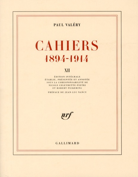 Cahiers 1894-1914 t.12