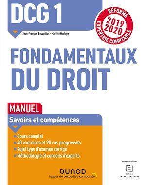 DCG 1 - introduction au droit t.1 ; fondamentaux du droit - manuel - réforme expertise comptable (édition 2019/2020)