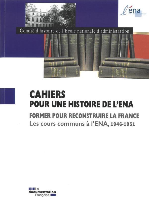 Cours communs à l'ENA 1946-1951