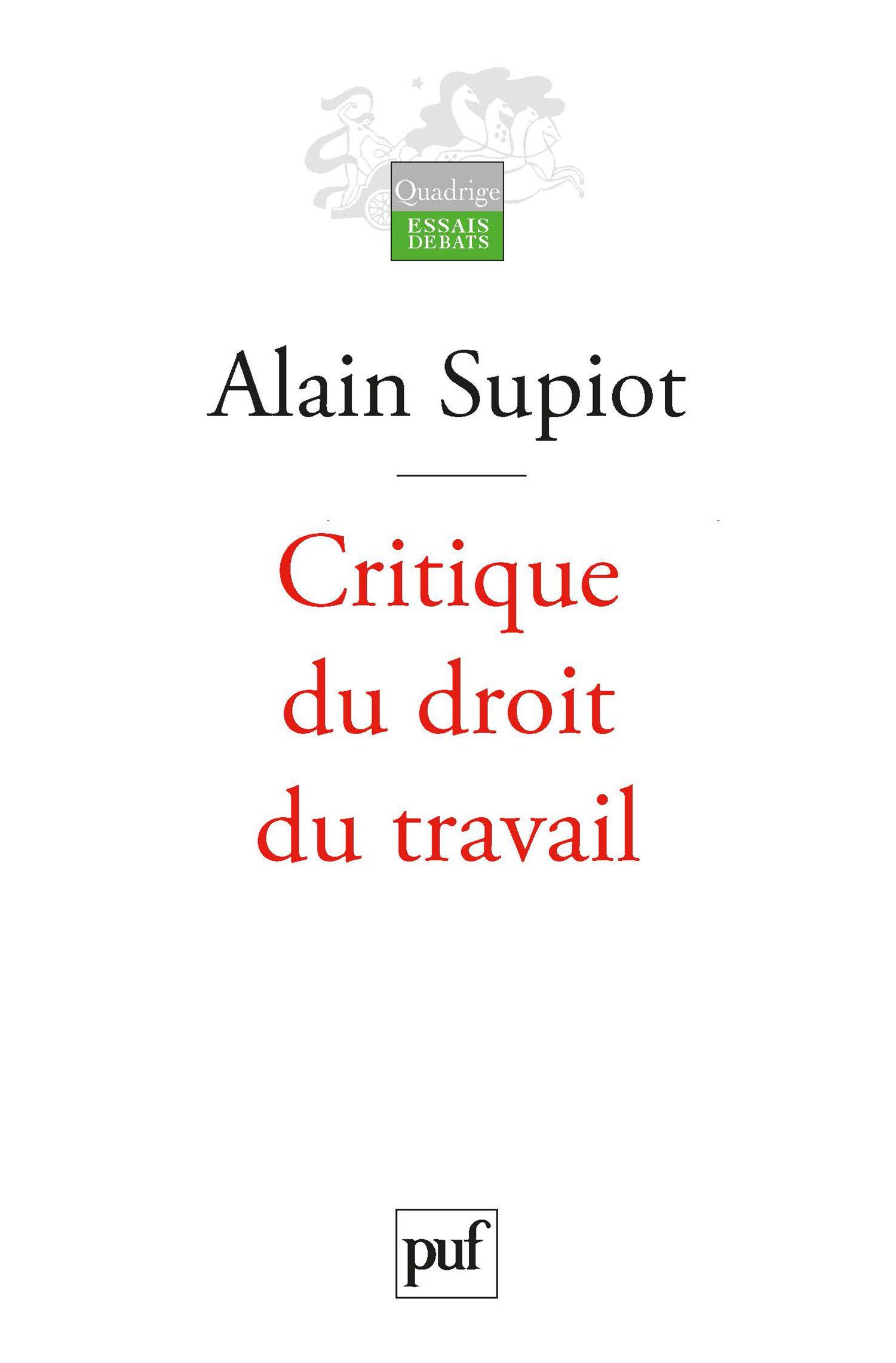 Critique du droit du travail (2e édition)