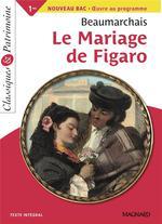 Couverture de Le mariage de figaro, de beaumarchais