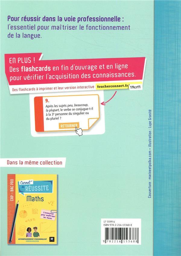 Carnet de réussite ; français ; CAP-Bac pro ; manuel de l'élève (édition 2019)