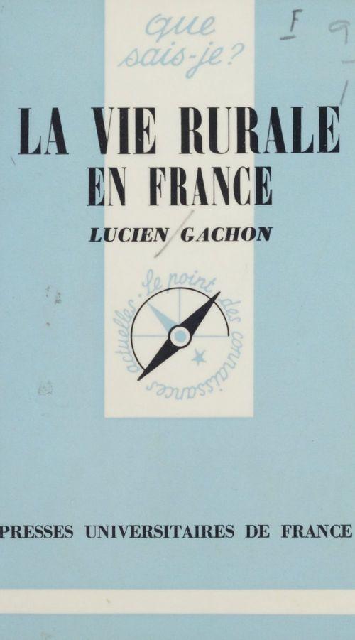 La vie rurale en France