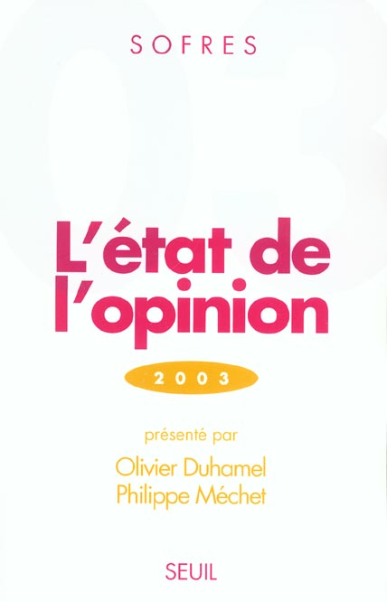 Etat de l'opinion (2003) (l')