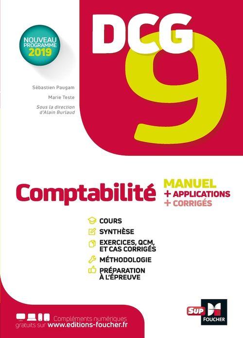 Vente Livre Numérique : DCG 9 ; comptabilité ; manuel et applications  - Alain Burlaud  - Sébastien Paugam  - Marie Teste