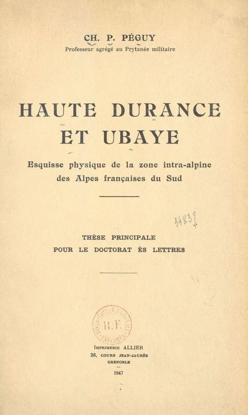 Haute Durance et Ubaye