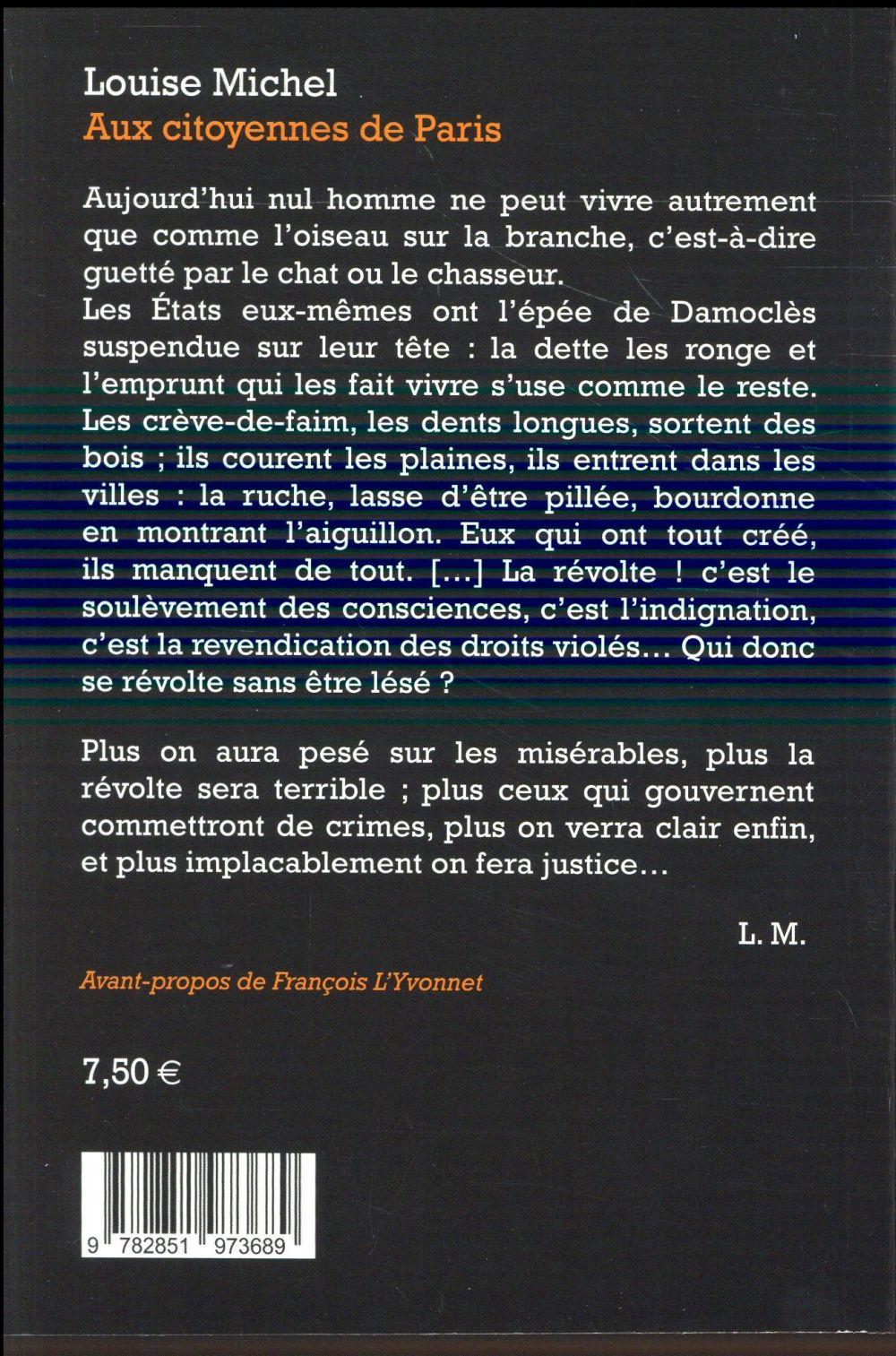 aux citoyennes de Paris