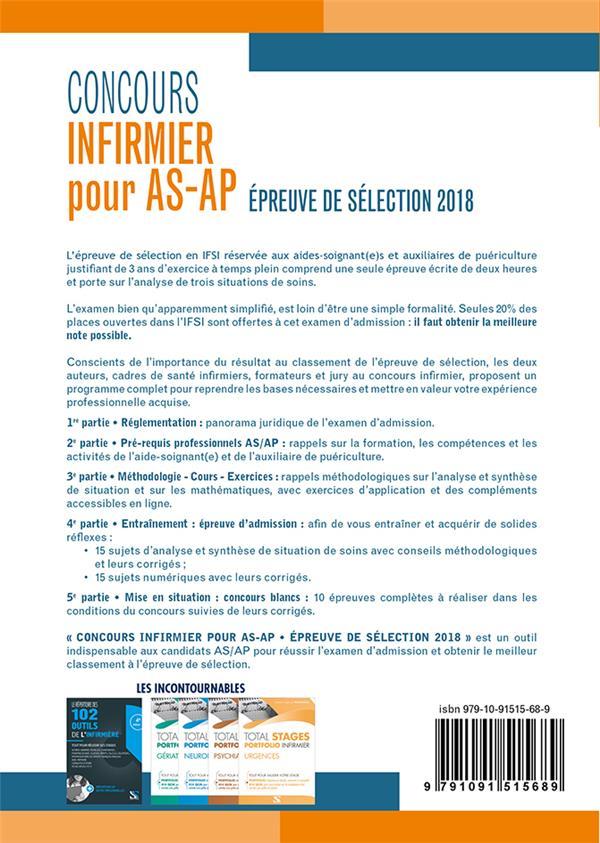 Concours infirmier pour AS-AP; épreuves de sélection ; (concours IFSI 2018)