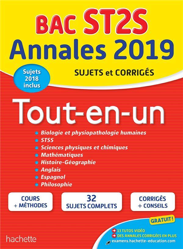 Annales bac ; sujets et corrigés ; tout-en-un ; terminale ST2S (édition 2019)