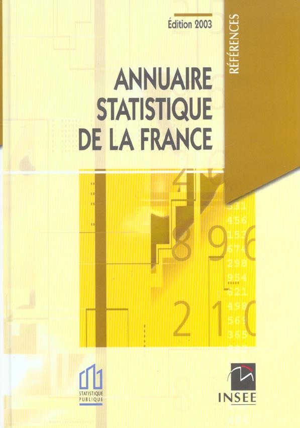 Annuaire statistique de la france ; edition 2003