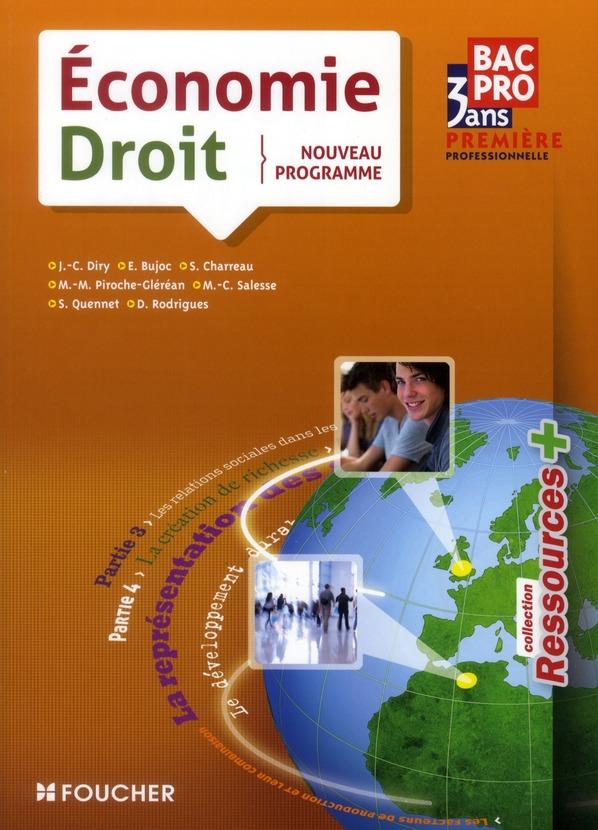 économie-droit ; 1ère professionelle bac pro 3 ans (édition 2011)