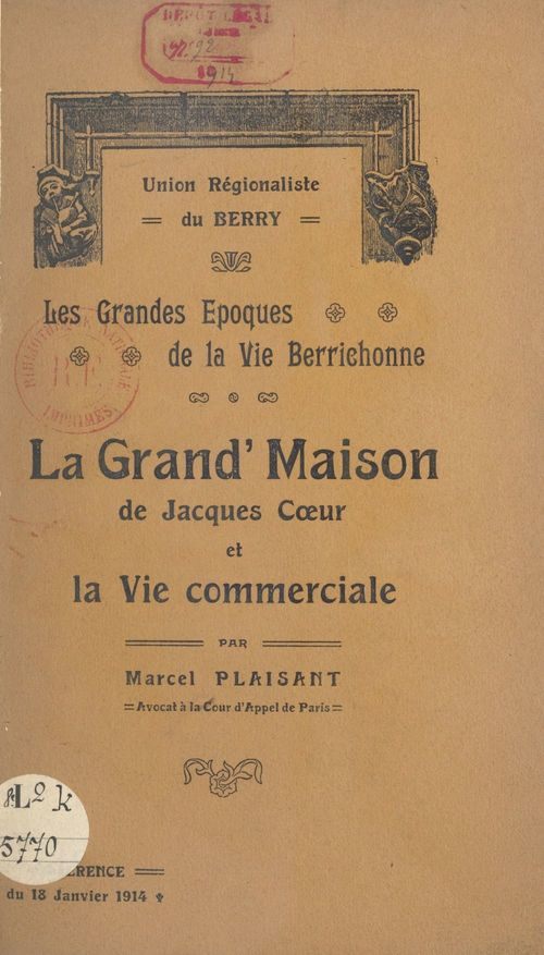 La Grand'maison de Jacques Coeur et la vie commerciale