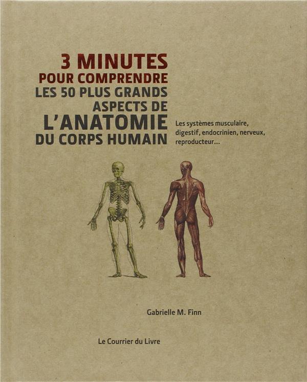3 minutes pour comprendre ; les 50 plus grands aspects de l'anatomie du corps humain ; les systèmes musculaire, digestif, endocrinien, nerveux, reproducteur...