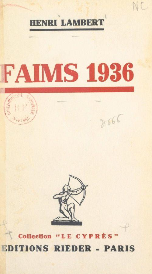 Faims 1936  - Henri LAMBERT