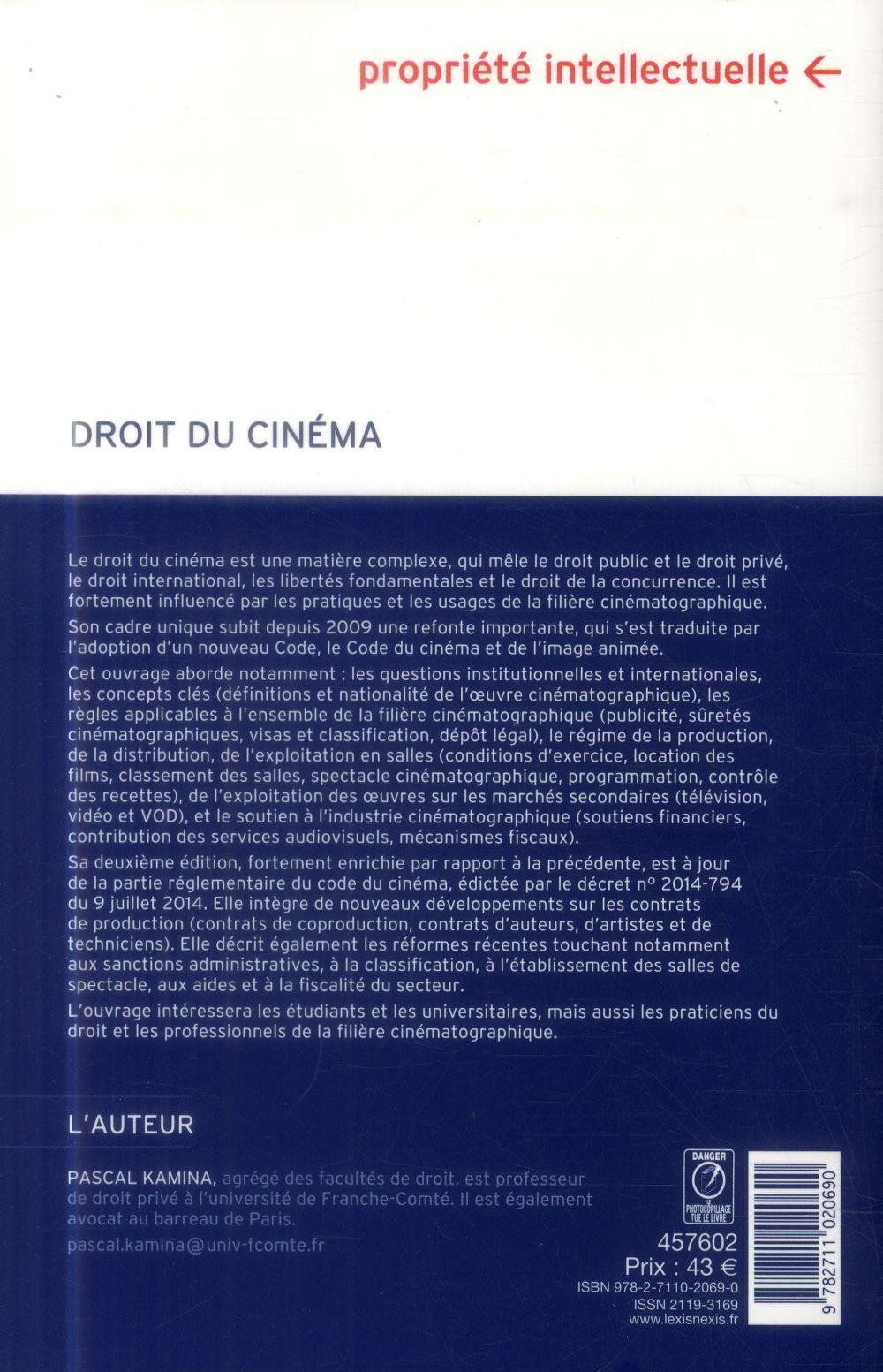 Droit du cinéma (2e édition)