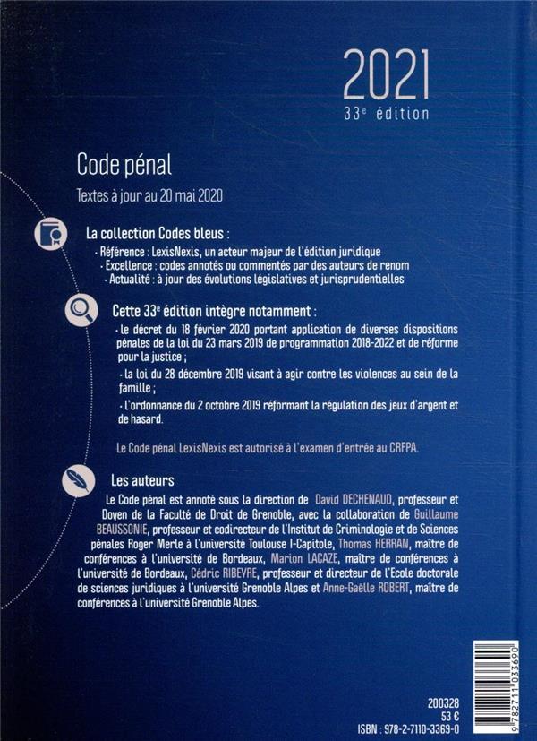 Code pénal (édition 2021)