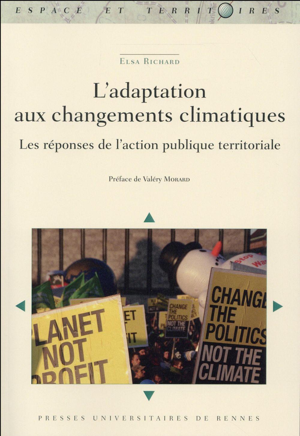 l'adaptation aux changements climatiques ; les réponses de l'action publique territoriale