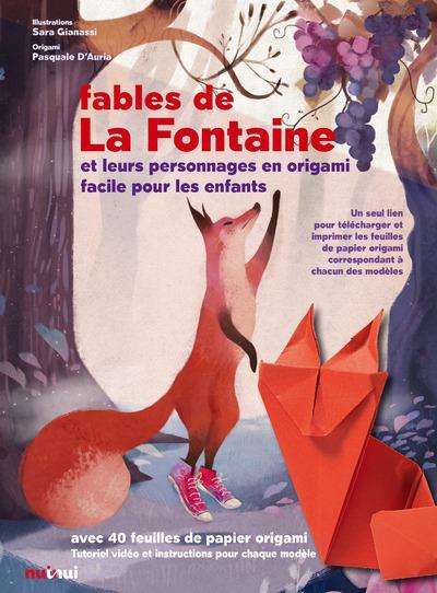Les fables de La Fontaine et les personnages en origami