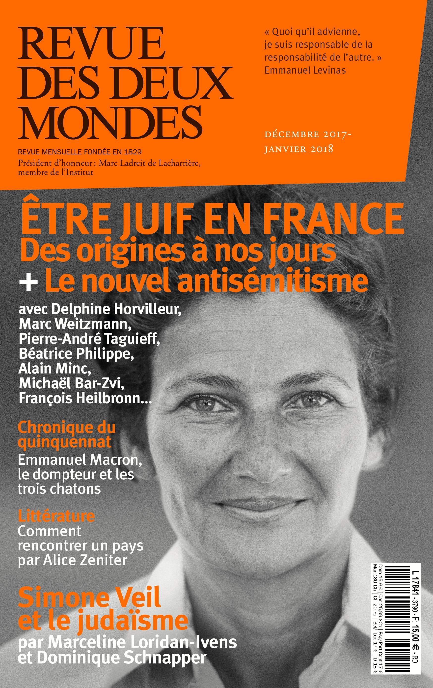 REVUE DES DEUX MONDES ; les juifs et la France ; Simone Veil