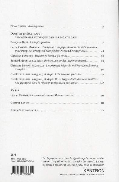 L'imaginaire utopique dans le monde grec (edition 2010)