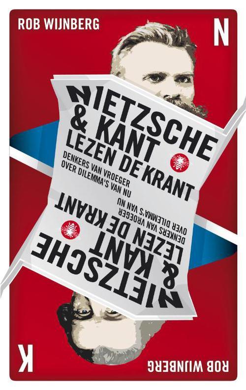 Nietzsche en Kant lezen de krant