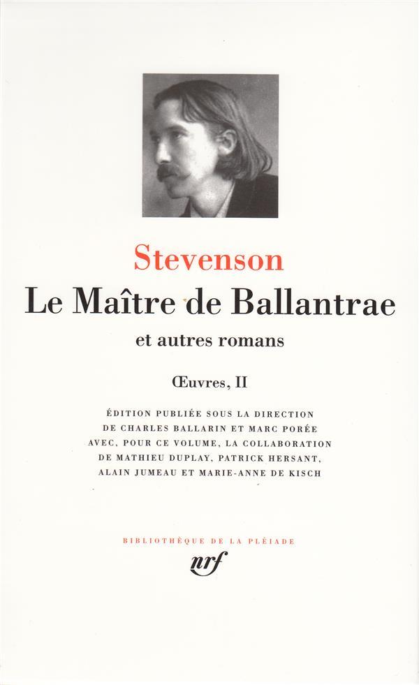 Oeuvres t.513 ; le maître de ballantrae et autres romans