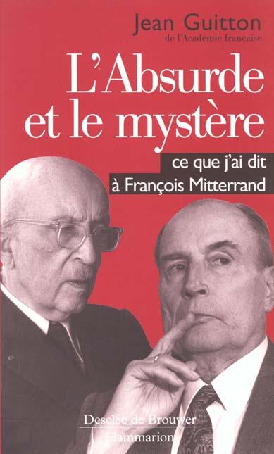 L'absurde et le mystere - - co-edition desclee de brouwer