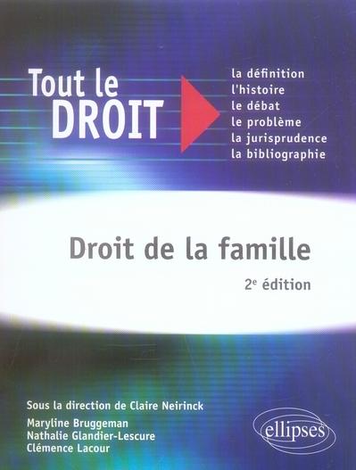 Droit De La Famille 2e Edition