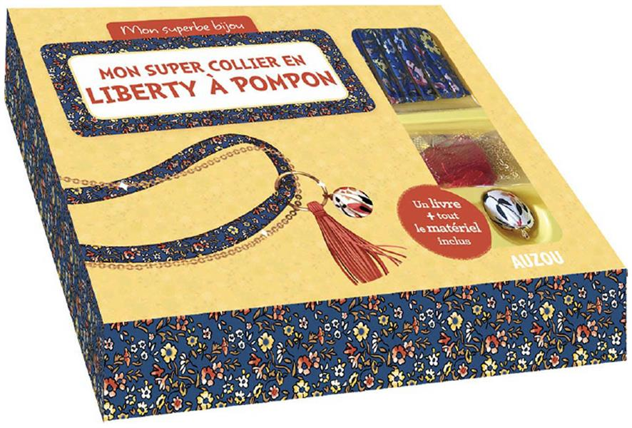 Mon joli collier en liberty à pompon