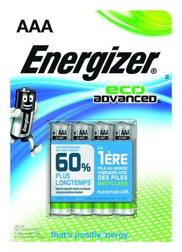 ENERGIZER ECO ADV LR03/AAA PACK DE 4