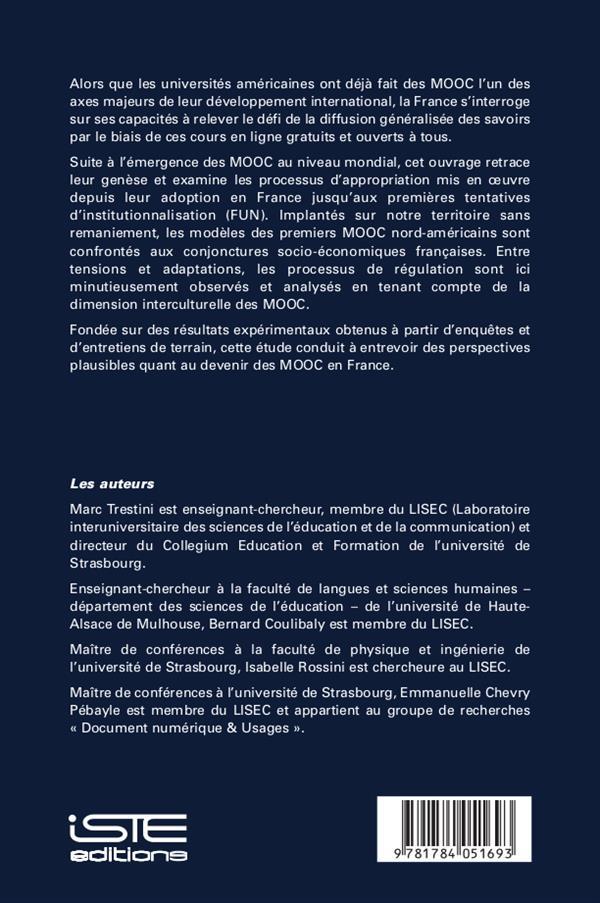 appropriation sociale des MOOC en France