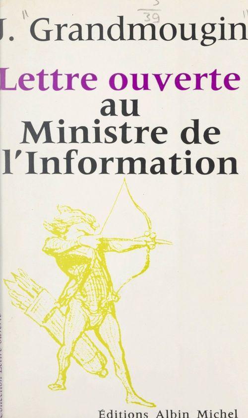 Lettre ouverte au ministre de l'Information