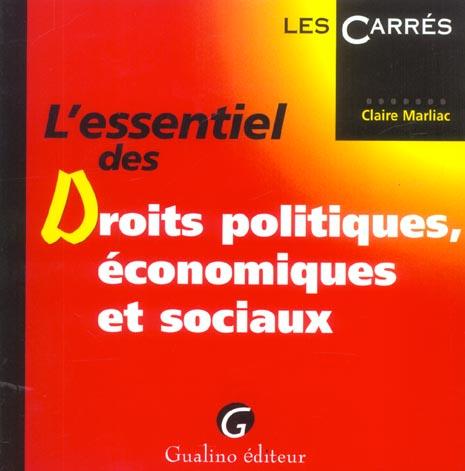 L'Essentiel Des Droits Politiques, Economiques Et Sociaux