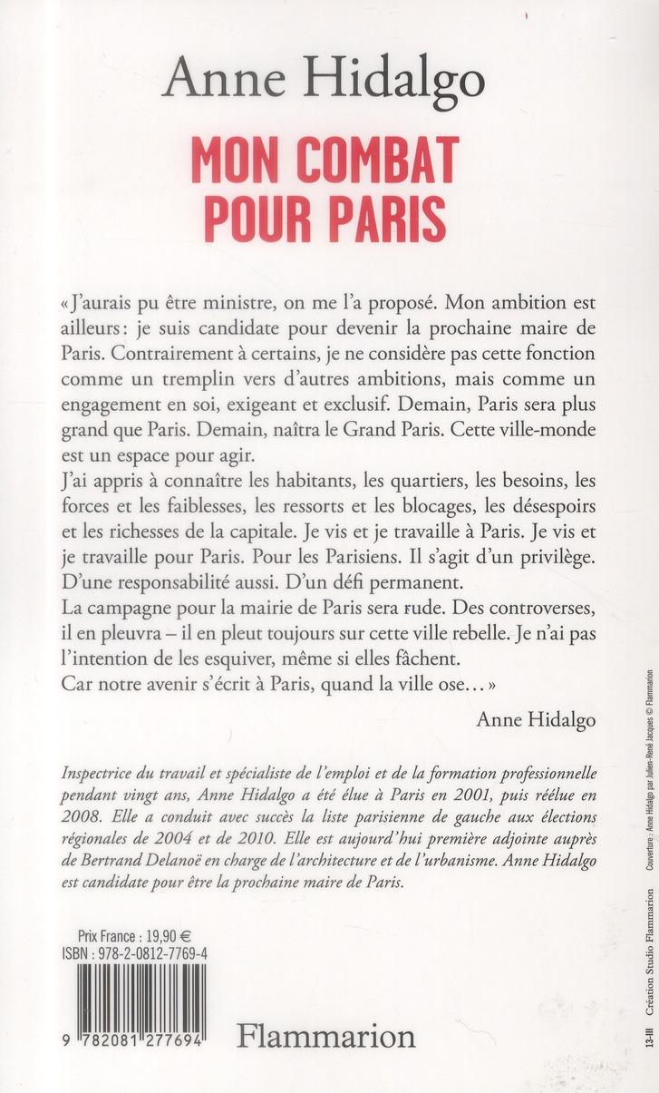 Mon combat pour Paris