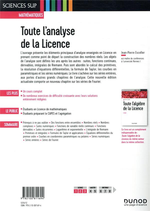 Toute l'analyse de la licence (2e édition)