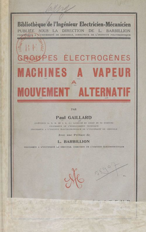 Machines à vapeur à mouvement alternatif