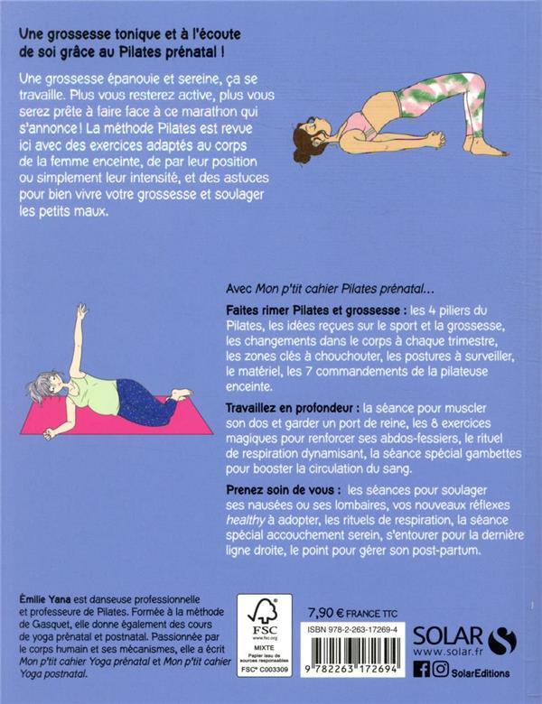 MON P'TIT CAHIER ; pilates prénatal