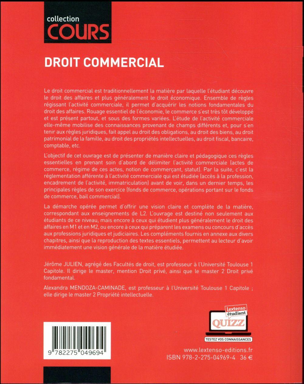 Droit commercial (3e édition)