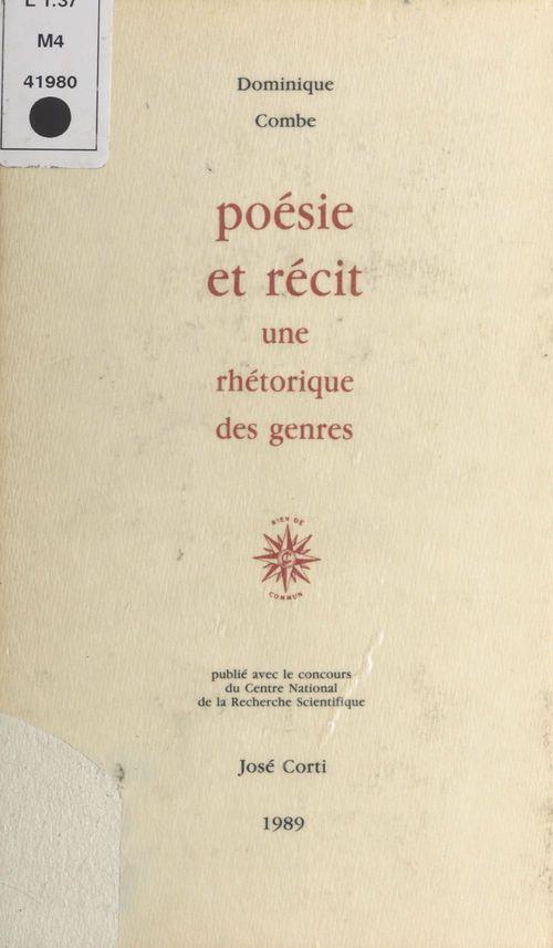 Poesie et recit