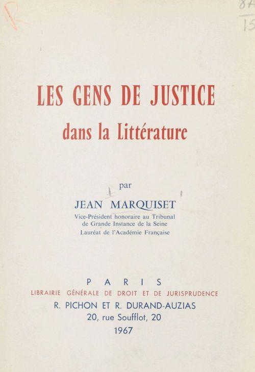 Les gens de justice dans la littérature