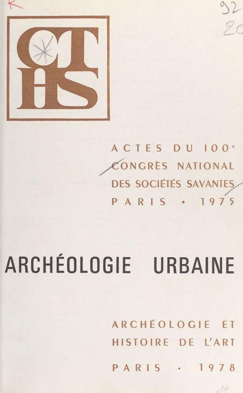 Archéologie urbaine