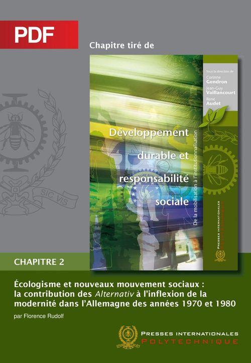 Écologisme et nouveaux mouvement sociaux (Chapitre PDF)