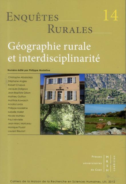 Geographie rurale et interdisciplinarite