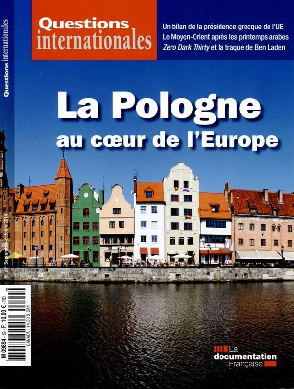 Revue questions internationales t.69; la pologne au coeur de l'europe