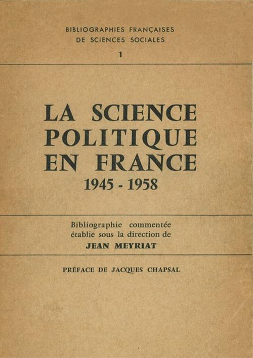 La science politique en France
