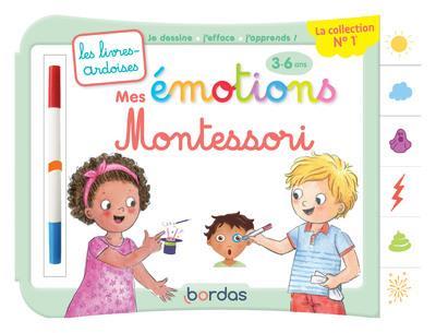Les livres-ardoises ; mes émotions Montessori ; 3/6 ans