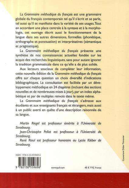grammaire méthodique du français (7e édition)